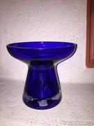 Kék kristályüveg váza (5)