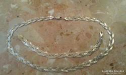 26,6gr  Fonott 2 oldalas jelzett ezüst nyaklánc + karlánc