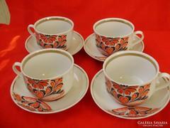 Orosz porcelán aranyozott teás csészék