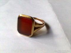 Férfi köves pecsét gyűrű