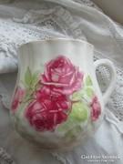 Antik rózsás Zsolnay csupor,bögre