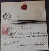 Boríték Ferencz József bélyeggel DÉÉS lebélyegzéssel