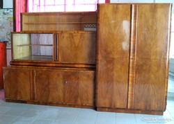 Art Deco szekrény, szekrénysor, 2 részes, szállítással!!!
