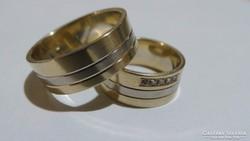 Arany karikagyűrűk 14K 12,40 gramm