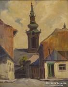 0A127 Sz. Szabó jelzéssel : Templomtorony 1935