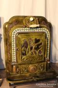 Nagyon régi antik Godin öntöttvas kandalló kályha!