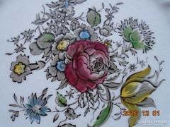 Myotts-Bouquet-rózsás virágcsokros falitál-rugós-akasztóval