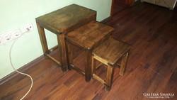 Indiai kis bútor, 3 db-os garn. szék/ülőke lakásdekoráció