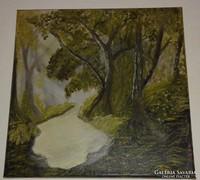 Erdő, olaj-vászon festmény