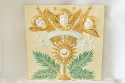 Antik Zsolnay nagyméretű fali plakett