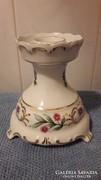 Hollóházi porcelán gyertyatartó