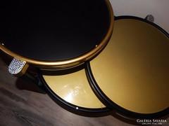 Dizájner üveg asztal ( Milo Baughman reprodukció )