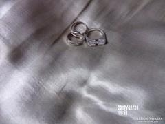 3 ezüst gyűrű + 1 db fülbevaló ajándék