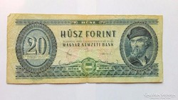 1980 évi  20.-Ft-os papirpénz