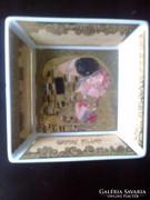 Goebel : Gyűrűtartó ,Gustáv Klimt jelenettel
