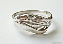 Levél mintás gyűrű