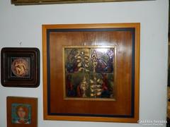 Tűzzománc falikép : Fábián Gyöngyvér  tűzzománc alkotása