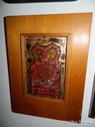 Tűzzománc jelzett falikép : Szerelmespár