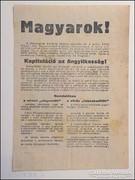 Magyarok ! Német főparancsnokság röpcédula