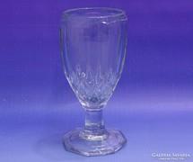 0K351 Régi vastagfalú talpas üveg pohár