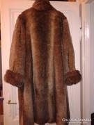 Nerc utánzat műszörme bunda női téli szőrme kabát kb 44-es