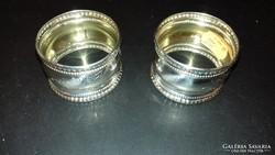 Ezüst páros szalvétagyűrű