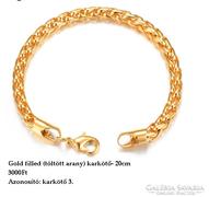 Töltött arany karkötő (gold filled)