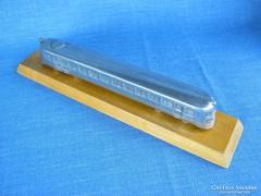 Retro 25 cm-es alumínium vonat mozdony vasút