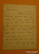 Jászai Mari autográf levele Feszty Gizellához