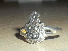 Régi Virág mint.Tibeti ezüst gyűrű 3.