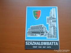 SZÁZHALOMBATTA TÉRKÉP 1989