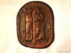 Vallási réz falikép