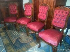 Csodálatos faragott neobarokk étkező székek