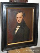 Férfi portré - Karl von Blaas? (1815-1894) XIX. század