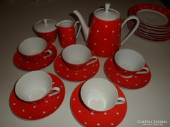 Pöttyös kávés vagy teás készlet 5 személyes, Kahla