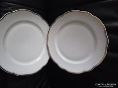 2 db Zsolnay hullámos szélű nagy lapos tányér