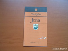 JENA NÉMET (NDK) VÁROSTÉRKÉPE 1987