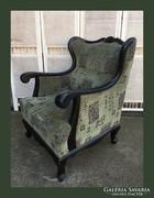 Külünleges,neobarokk füles fotel