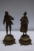 """Ernest Rancoulet """"La Gavotte""""Rokoko pár;1880 körül"""