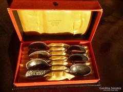 6db ezüst mokkáskanál saját dobozában