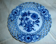Meisseni áttört szegéllyel  tányér
