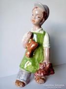H Rahmer Mária kerámia suszter cipész fiú figura