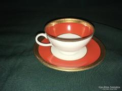 Retro 50-es évek piros Schaubach kávés csésze
