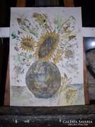 Virágcsendélet akvarell -,közvetlenül a festőtől