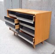 Jiri Jiroutek sideboard, fiókos szekrény, vintage komód