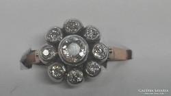 Antik gyémánt 14k arany karmazált gyűrű