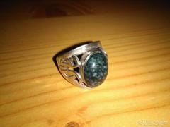 Kék achát gyűrű