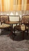 Barok asztal 2 székkel