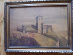 Haranghy Jenő akvarell kartonra