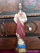 Fából faragott , festett Jézus 51 cm -es